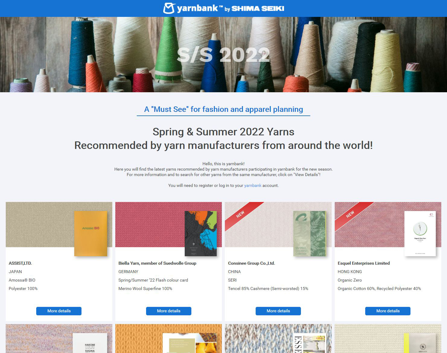 yarnbank presents Spring/Summer 2022 Feature Page